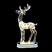 Snowtime Battery Operated Crystal Reindeer 28cm Warm White