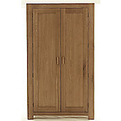 Thorndon Block Bedroom Gents Double Wardrobe in Natural Matured Oak