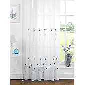 Melissa Embroidered Voile Panel - Teal