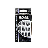 Royal 24 Glue-On Elegant Nail Tips - Black