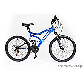 "Muddyfox Typhoon 24"" Kids' Dual Suspension Mountain Bike"