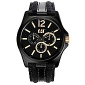 CAT DP XL multi Mens Fabric Day & Date Seconds Sub Dial Watch PK.199.60.139