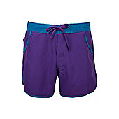 Plain Womens Board Shorts - Purple - 10