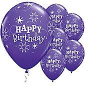 11' Birthday Sparkle Purple (6pk)