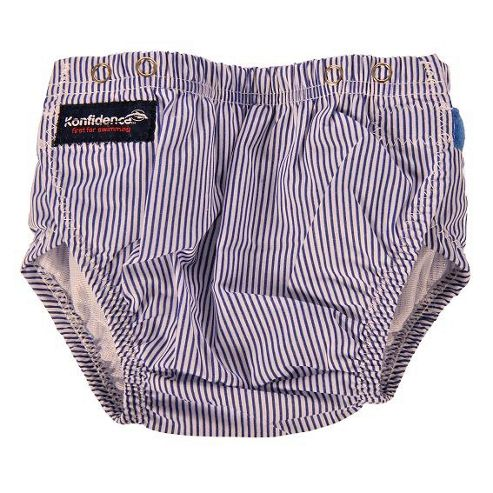 Konfidence Swim Nappy Blue Stripes