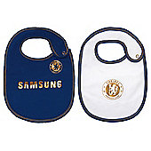 Chelsea FC 2 Pack Baby Bibs Home & Away