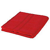 Tesco 100% Combed Cotton Bath Towel Tomato