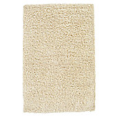 Husain International Plain Ivory Shag Rug - 180cm x 120cm (5 ft 11 in x 3 ft 11 in)
