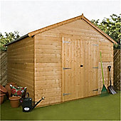10ft x 10ft Deluxe Tongue & Groove Windowless Workshop