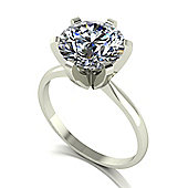 18ct 9.0mm Single Stone Moissanite Ring