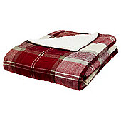 Red Check Sherpa Throw
