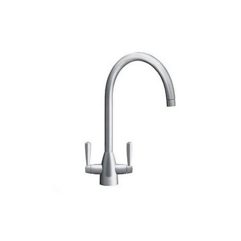 Franke Eiger Dual Handle Mixer Tap for Kitchen Sink Mixer Tap, Silk Steel