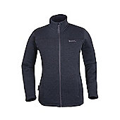 Nevis Full Zip Mens Fleece - Black