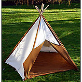 Children's Play Tent Brown & Cream