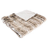Light Naturals Faux Fur Throw