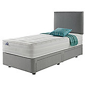 Silentnight Mirapocket 1200 Ortho Memory Non Storage Single Divan Light Grey with Headboard
