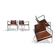 Parri Big Easy Lounge Armchair - Veneer - Painted Mustard