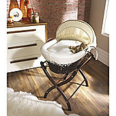 Izziwotnot Cream Gift Wicker Moses Basket - Dark