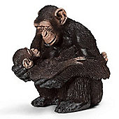 Schleich Chimpanzee Female with Baby 14679