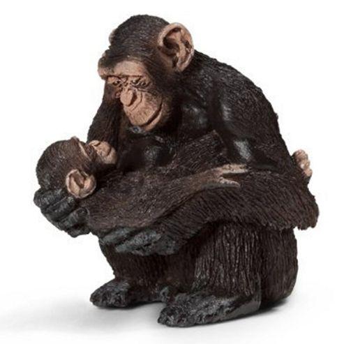 Schleich Chimpanzee Female with Baby 14679