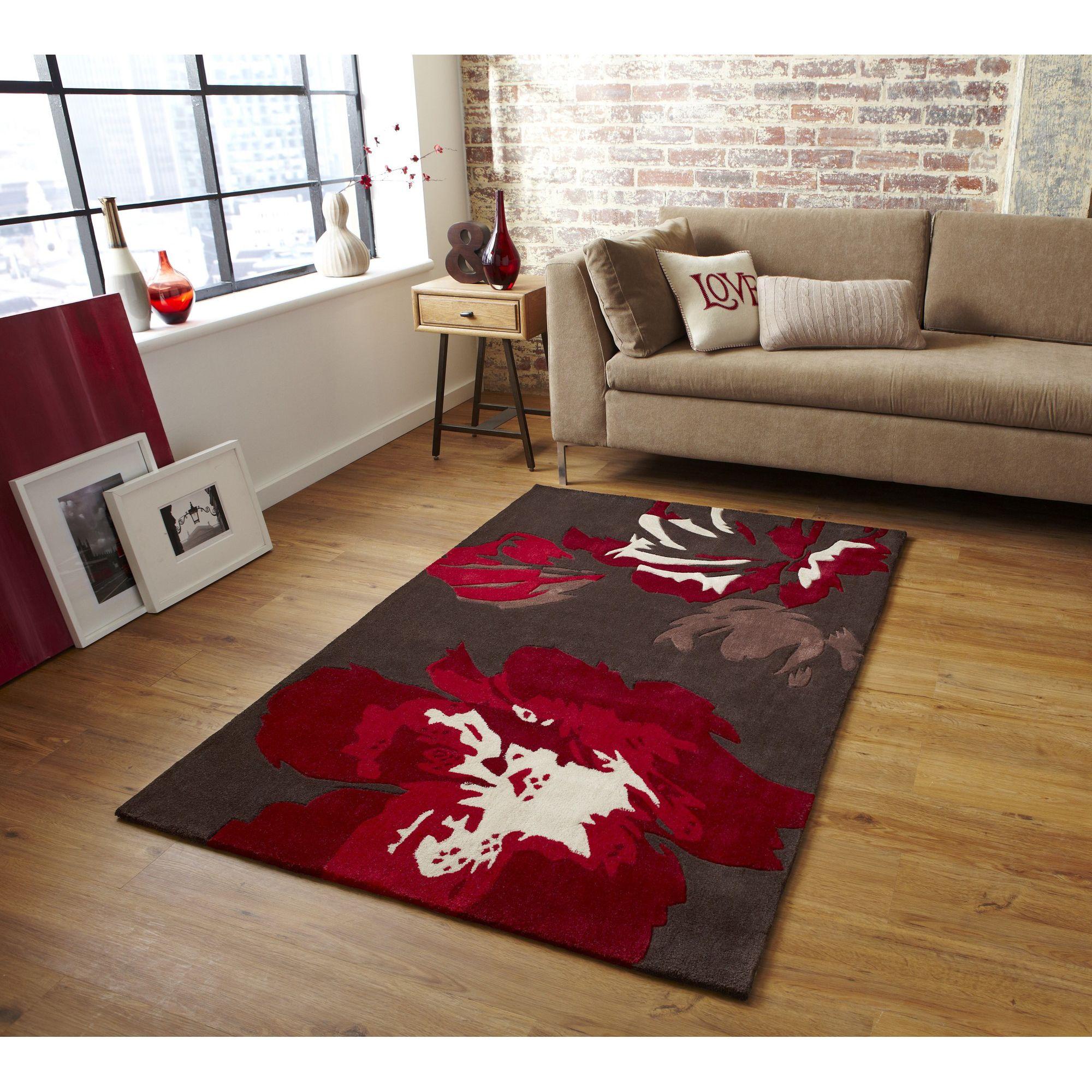 Oriental Carpets & Rugs Hong Kong 2827 Brown/Red Rug - 90cm x 150cm