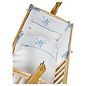 Clair De Lune Stardust Rocking Crib Bedding Set - Blue - Blue