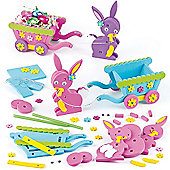 Easter Bunny & Cart 3D Craft Kits (Pack of 2)