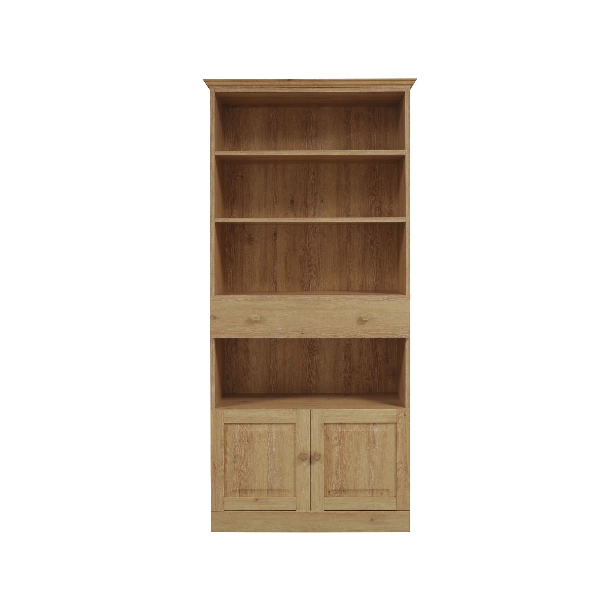 Caxton Driftwood Tall Wide Bookcase in Limed Oak at Tesco Direct