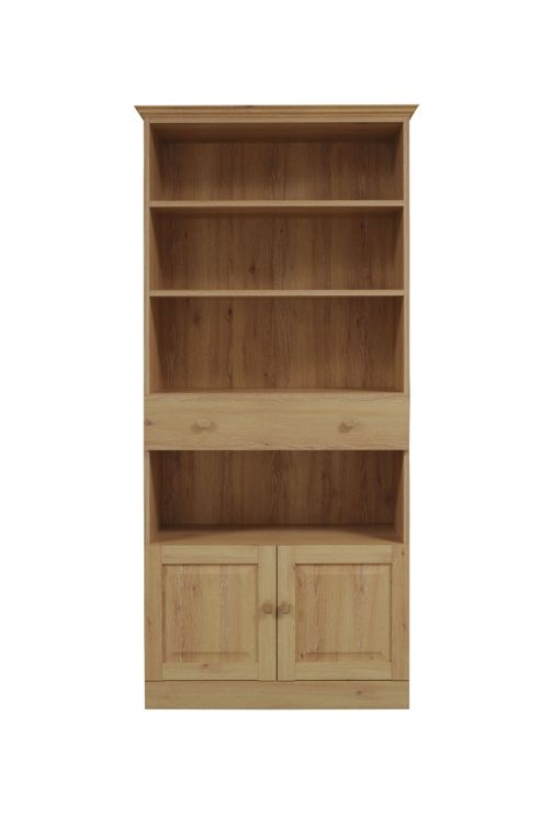 Caxton Driftwood Tall Wide Bookcase in Limed Oak