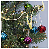 Bright Bells Christmas Tree Decorations, 9 pack
