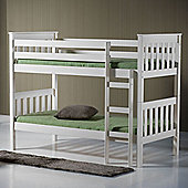 Happy Beds Seattle 3ft Wooden Bunk Bed 2x Orthopaedic Mattress
