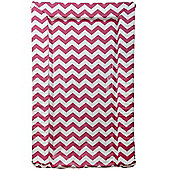 East Coast Chevron Changing Mat (Raspberry)