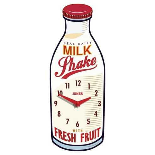 Jones & Co Oversized Milk Bottle Clock