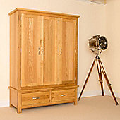 Newlyn Oak Triple Wardrobe - Light Oak