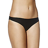 F&F Ruched Back Bikini Briefs - Black