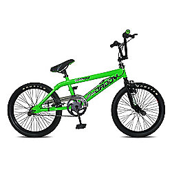 Big Daddy BMX Bike with Spokes, Neon Green