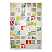 Esprit Cuadros White Woven Rug - 133 cm x 200 cm (4 ft 4 in x 6 ft 7 in)