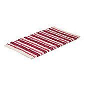 Sabichi Chenille Cotton Loop Bathmat - Raspberry