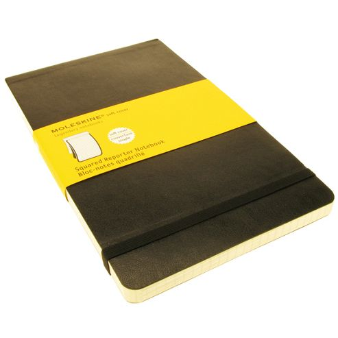 Moleskine Soft Squared Reporter Notebook Large