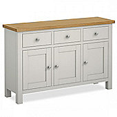 Cotswold Painted Large Sideboard - Matt Stone Grey