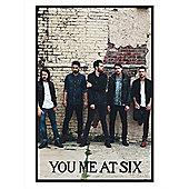 You Me At Six Gloss Black Framed Josh, Max, Chris, Matt & Dan YMAS Poster
