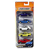 Matchbox 5-Pack Car Set (Colours/Styles Vary)