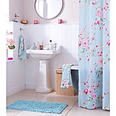 Catherine Lansfield Home Canterbury Shower Curtain blue