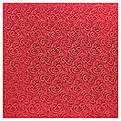 Luxury Red damask Roll Wrap