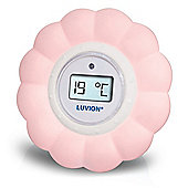 Luvion Flower Bath & Room Thermometer Pink