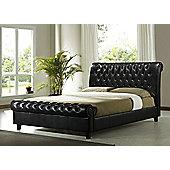 "Altruna Richmond Bed Frame - Double (4' 6"") - Brown"