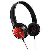 PIONEER SEMJ522 HEADPHONES (BLACK/RED)