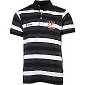 Kukri Ulster Rugby Mens Knitted Polo 15/16 - Grey