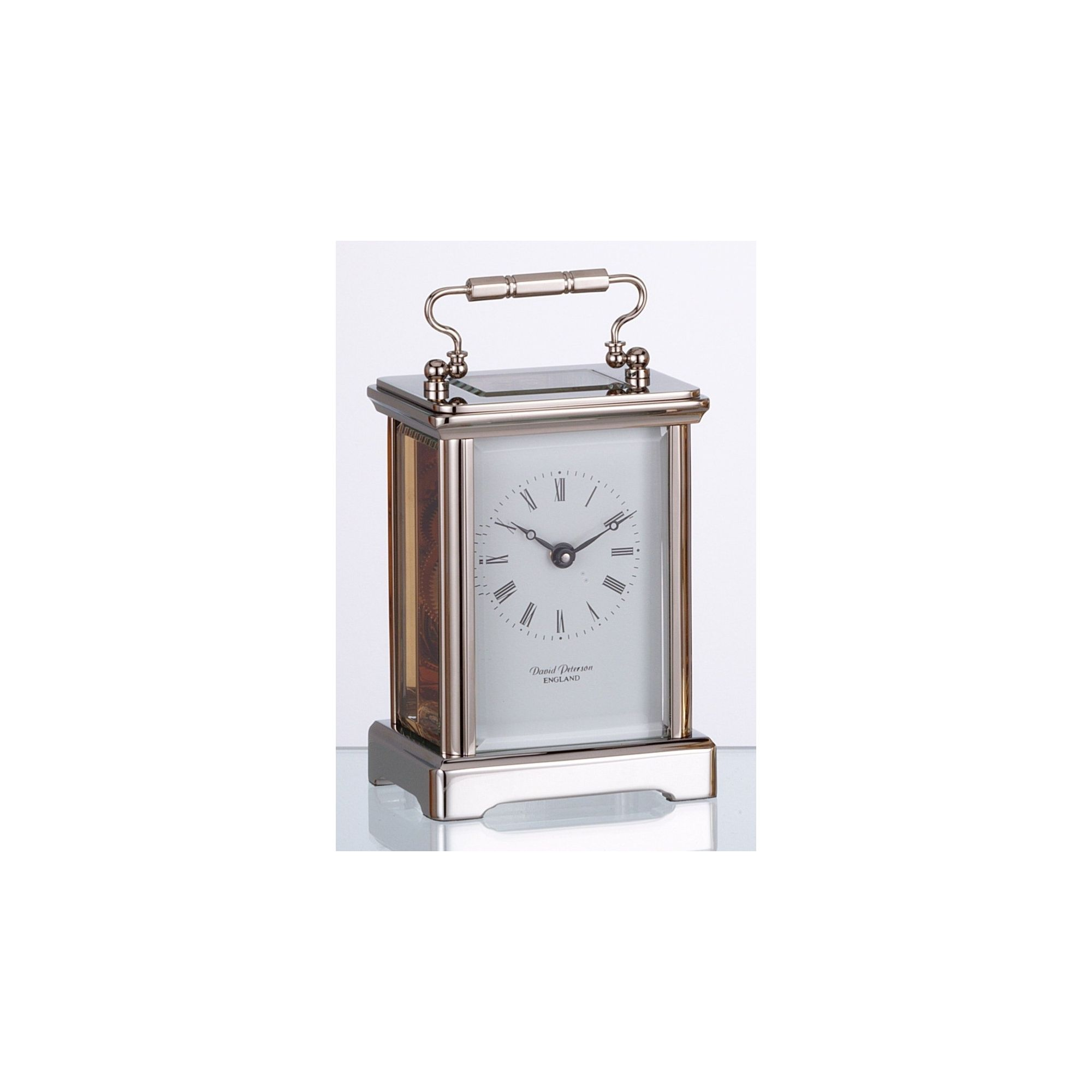 David Peterson Ltd 8 Day Obis Carriage Clock in Chrome at Tesco Direct