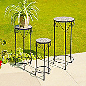 Ostia Set of 3 Mosaic Plant Stands